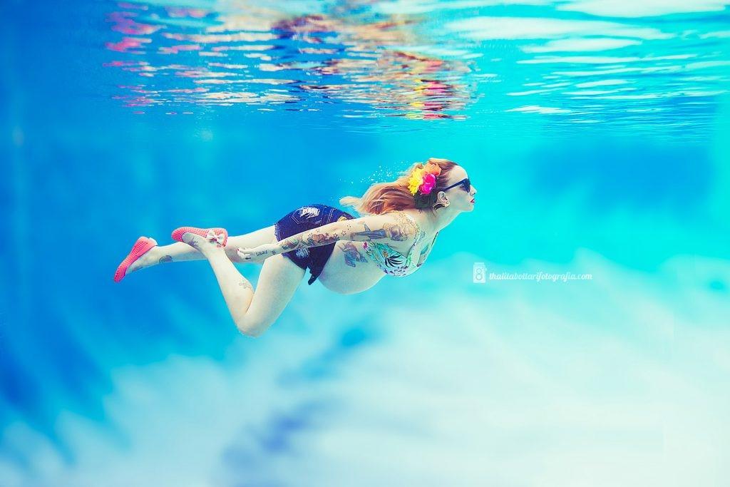 ensaio gravida na água