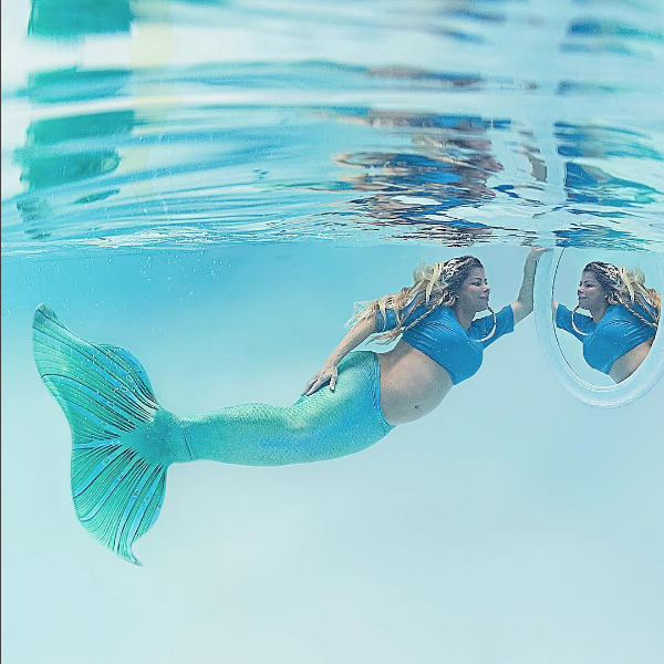 ensaio gestante subaquático