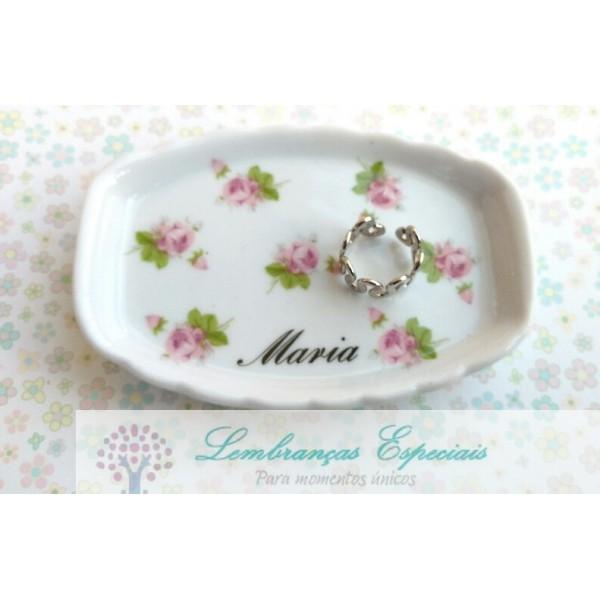 Lembrancinha de Mini Bandeja de Porcelana